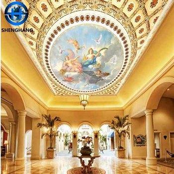 2016 New Interior Design Wallpaper In China Dalian Mural Ceiling Wall Paper