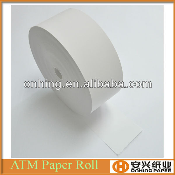 High Quality plain 80mm Thermal ATM paper/Receipt paper /POS Paper Rolls