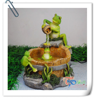 Frog Play Indoor Fountain/Indoor Mini Fountain/Water Fountain Home  Decoration