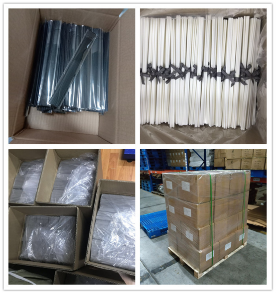 White And Black Color 4mmD*19cmL Fiber Rods For Aroma Diffuser