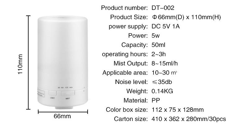 Mini usb portable car aroma essential oil diffuser