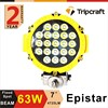 Hot Sale 4x4 LED work light CE RoHs Approved IP67 DC 10-30V DC 63w led work ramp