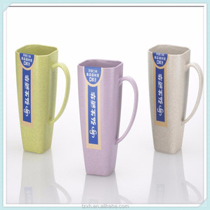 Bulk sale colorful Square shape plastic coffee mug