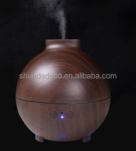 Dark wood essential oil car diffuser korean air humidifier