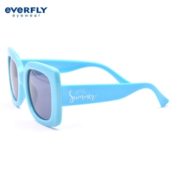 New Design 2019 Kids Wholesale Custom Logo China factory Bulk Buy Square Sunglasses Children