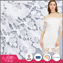 Fast delivery customized soft hand feel chemical stretch lace embroidery fabric