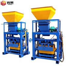 QT4-40A,cheap cost semi automatic brick machine from shandong