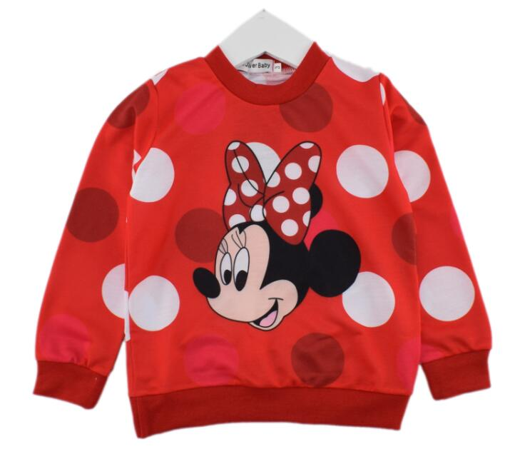 Hot sale 100 cotton boys girls cartoon long sleeve t shirts kids cute mouse tops multicolours