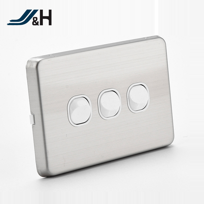 Au Slimline Type Of 3 Gang 2 Way Metalwall Switch With Saa