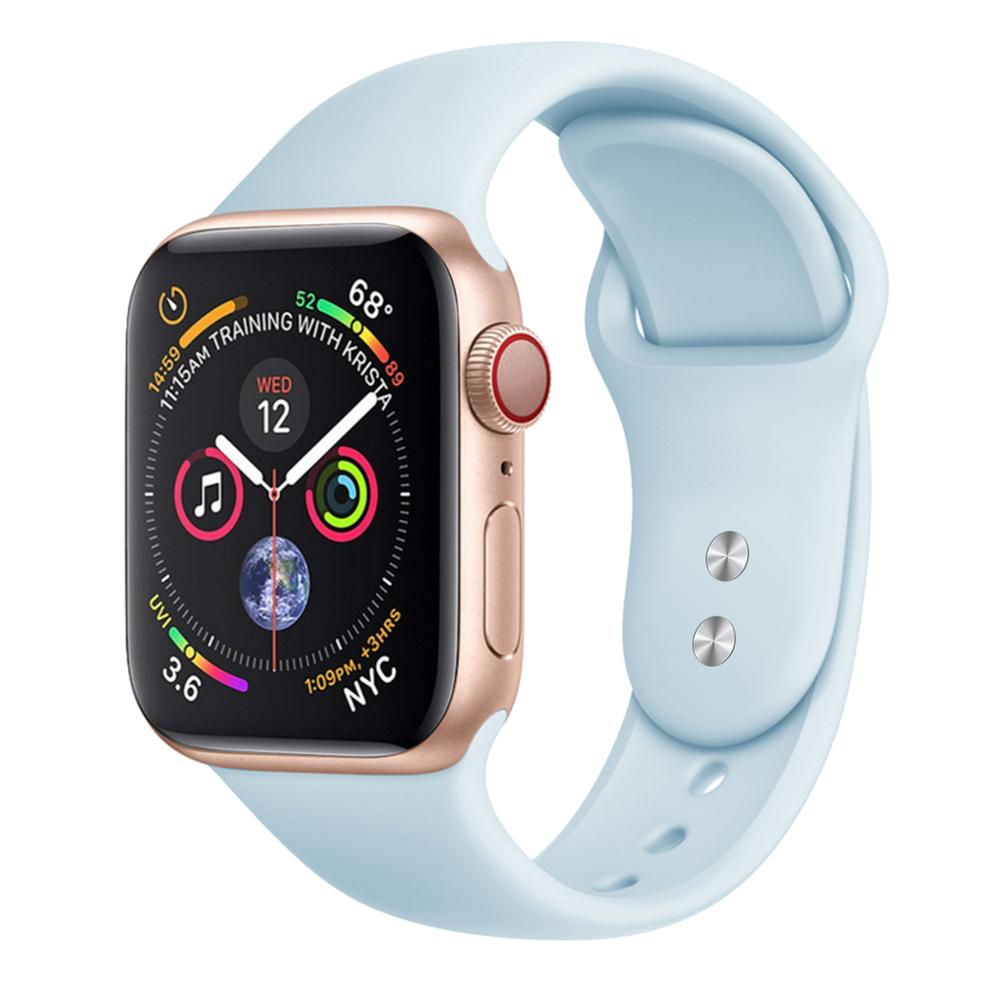 Sport Band Compatible for Apple Watch Band 38MM 42MM, Soft Silicone Replacement Sport Strap for iWatch Apple Watch Series 3/2/1 фото