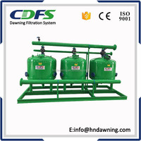 Automatic backwash sand filter for drip irrigation system