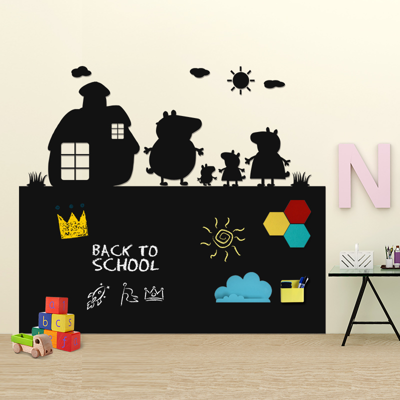New Removable Magnetic Chalkboard Sticker Wet Erase Restickable Blackboard Wallpaper for Kids Drawing Writing Learning