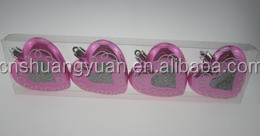 Romatic sweety heart shape ball hand painting Christmas gift