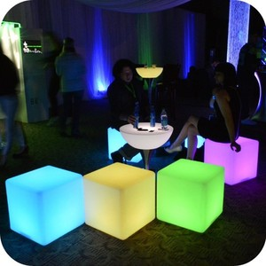Night club color changing led cube bar table stool furniture