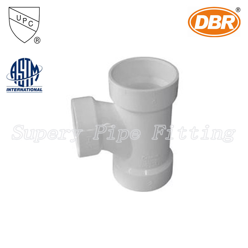 pvc pipes valve fittings nsf 2 inch sanitary tee /pipe line materials