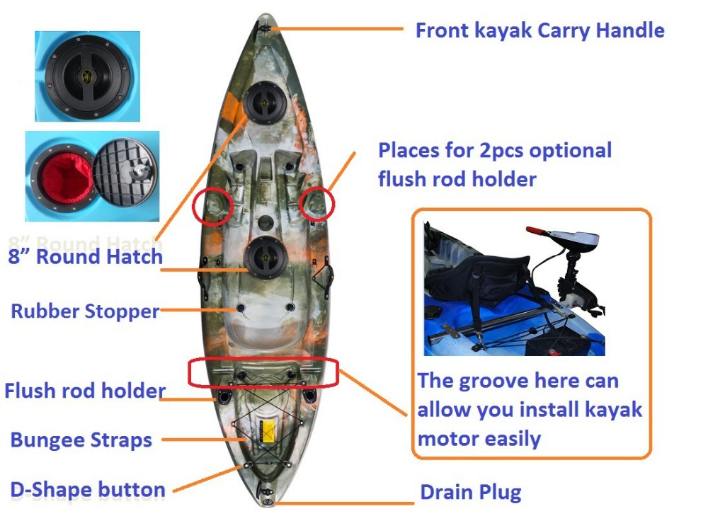 Kayak fishing boats made in china cool kayak brands buy for Cool fishing boat accessories