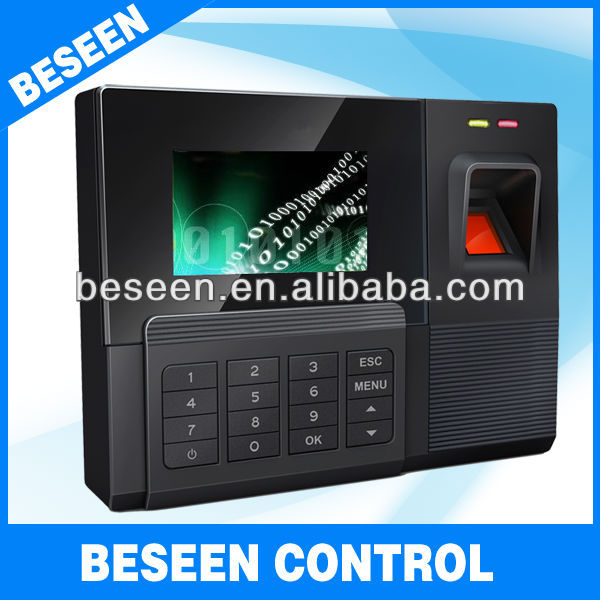 HOT Fingerprint Linux TFT screen Backup Battery WIFI GPRS Online staff time clock
