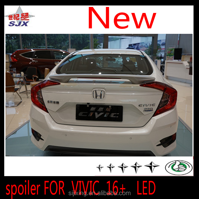 ABS CAR REAR SPOILER FOR CIVIC SPORT 16+ TAIWAN STYLE WITHOUT LED LAMP THE AUTO REAR WING