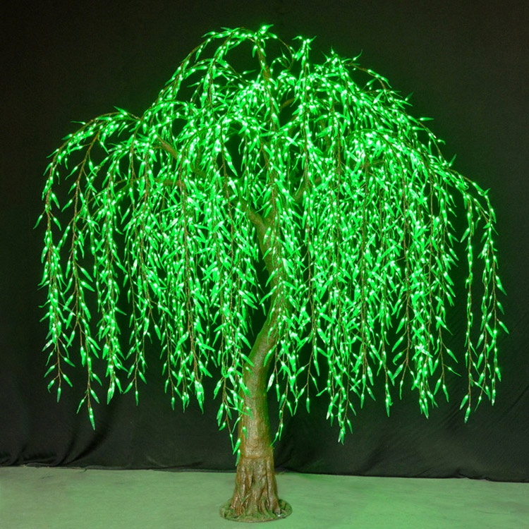 Wholesale outdoor Professional landscape artificial led weeping willow tree light