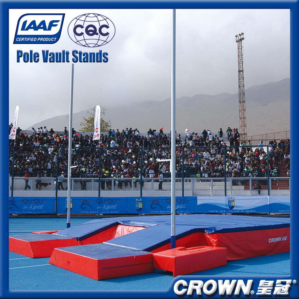 IAAF certification training and competition athletics equipment pole vault standards, pole vault sponge bag/jumping mats