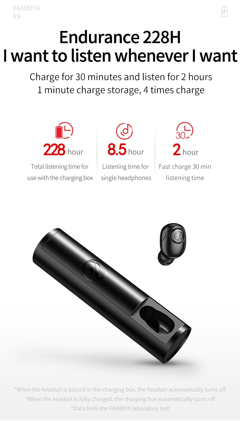 Explosive quality Mini stealth Bluetooth headset for long standby  Panoramic sound
