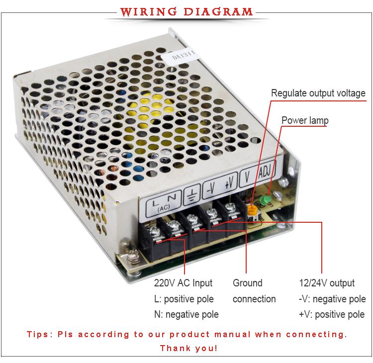 CE Rohs 35W MS-35 5v 12v 15v 24v dc mini size single output SMPS ...