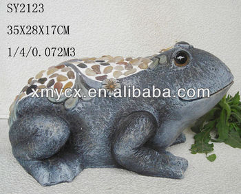 Polyresin frog garden decoration statues