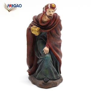OEM nativity collection wholesale souvenirs handmade home decor Christmas religious collectible cheap human figurines for sale