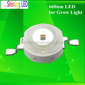With Clear PC Lens Epistar High Power 650nm to 670nm 3w Epistar 660nm LED