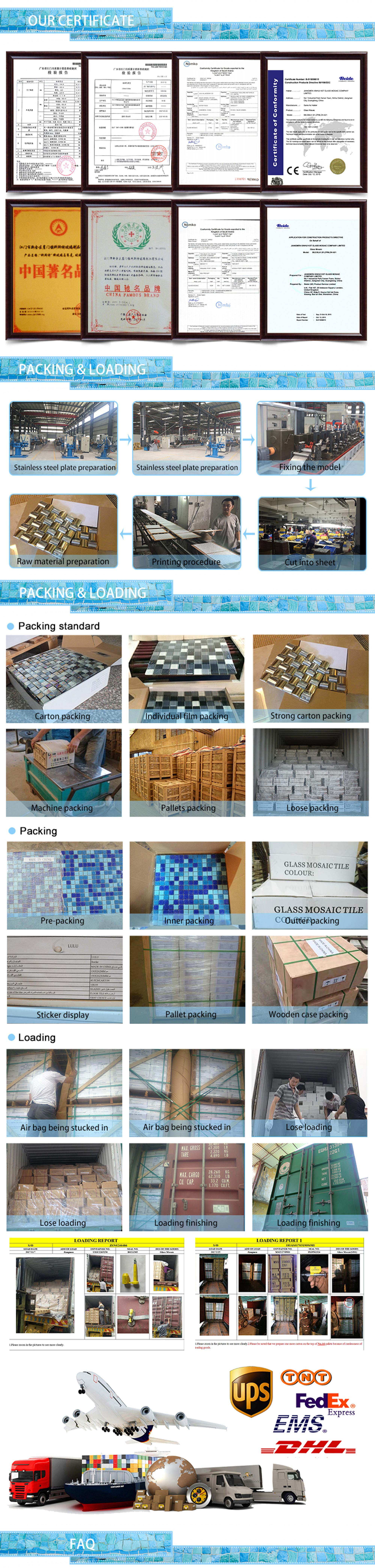 Beautiful design flower pattern mosaic