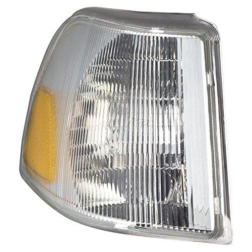 CarPartsDepot 99-02 Volvo C70 Left Front Signal Park Light VO2520101 Corner Light 98-00 S70 T5