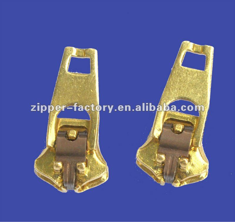 """Lot of 2 5YG 5mm Closed-End Blue Zippers Brass Teeth Snap Pull 3.5 or 4.5/"""""""