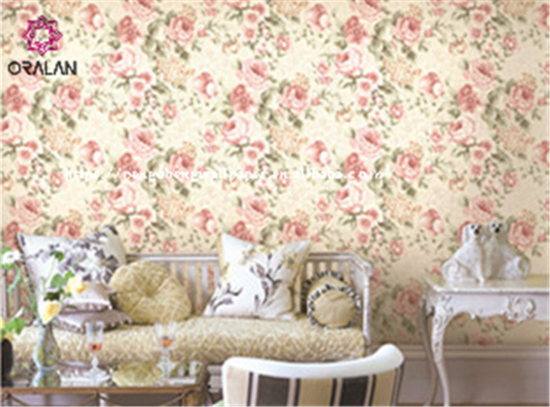 romantic flower wall covering large living room wallpaper bedroom TV background wall wallpaper