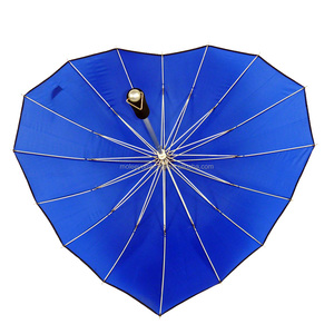 Buy Business Mens Designer Bulk Promotional Light Blue Yellow Wind Proof Heart Shaped Umbrella