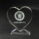 Clear Heart Shaped Crystal Award Trophy for Custom logo Engraving