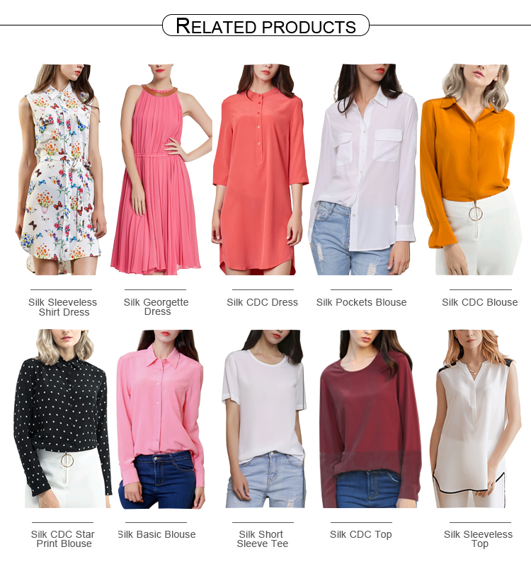 Wholesale Silk Clothing 100% Silk Crepe De Chine Basic Solid Short Sleeve Round Neck T shirt for Women