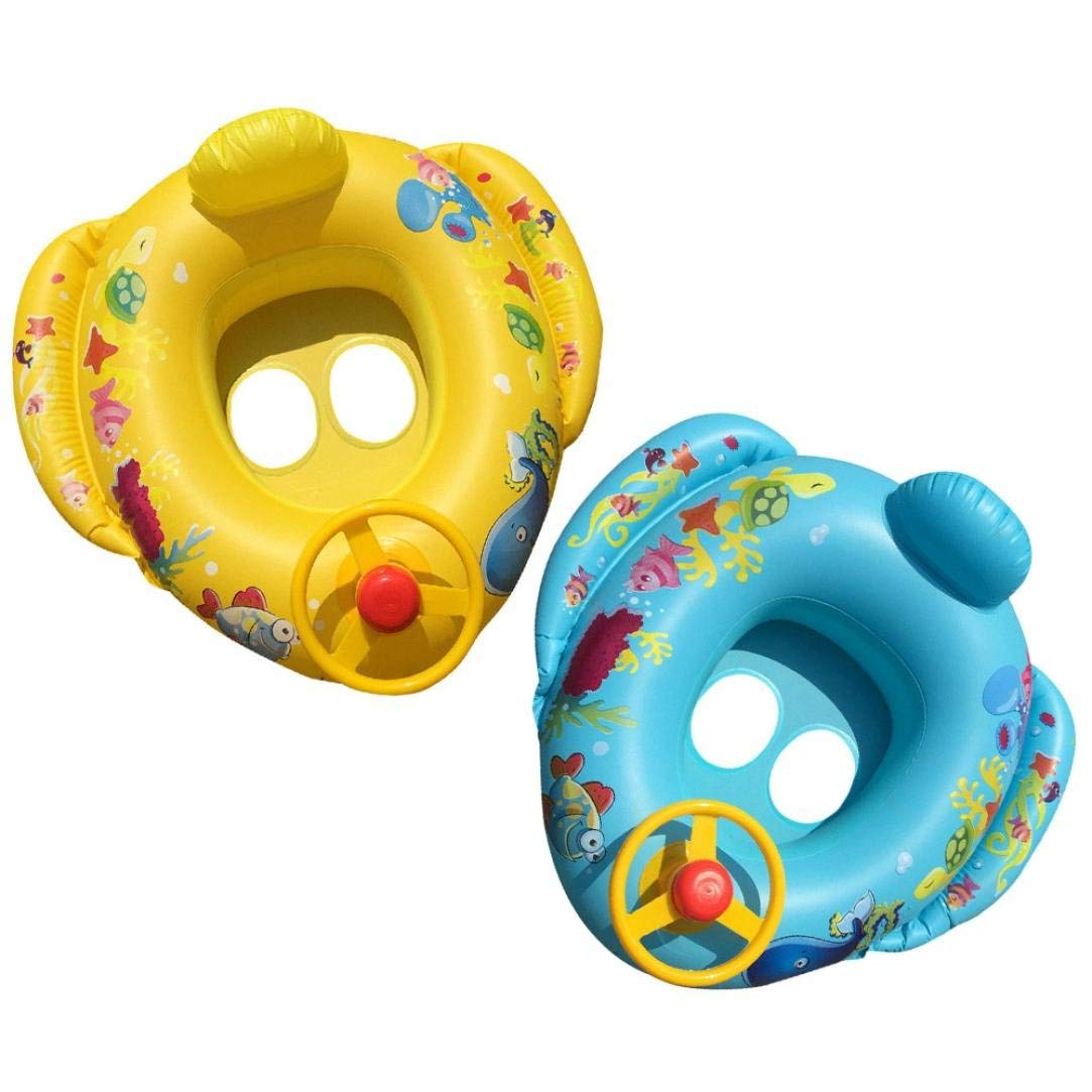 0221ec39714e Get Quotations · Coohole Float Seat Boat Kids Toddler Infant Safety Seat  Boat Pool Swimming Ring With Handle