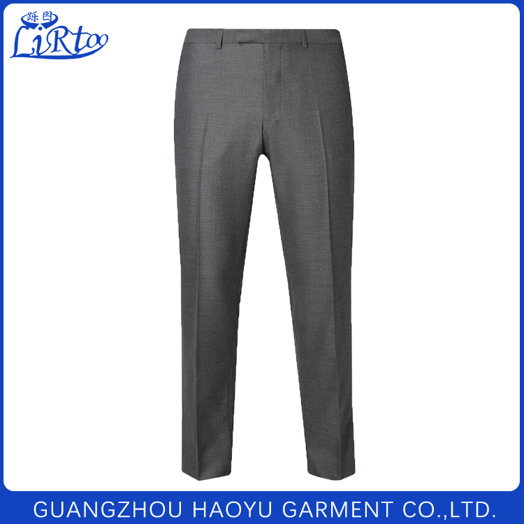 2017 New England Style Spring Men Slim Fit Suit Pants Business Fashion Trousers