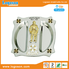 Metal Plate Souvenirs Custom Die-casting Gold Malta Knight, Airline Logo Metal Plate Decoration