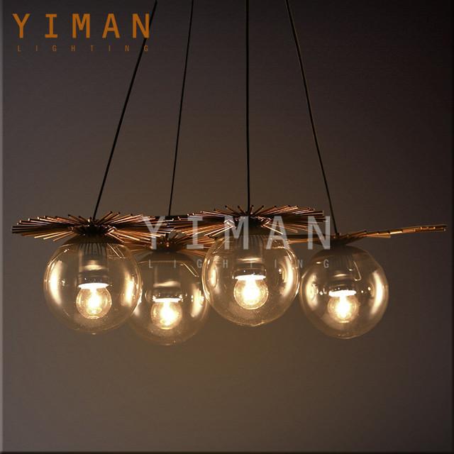 Turkish Loft Design Iron Glass Rust E27interior Vintage Pendant Lamp  Industrial Antique Ul Pendant Light