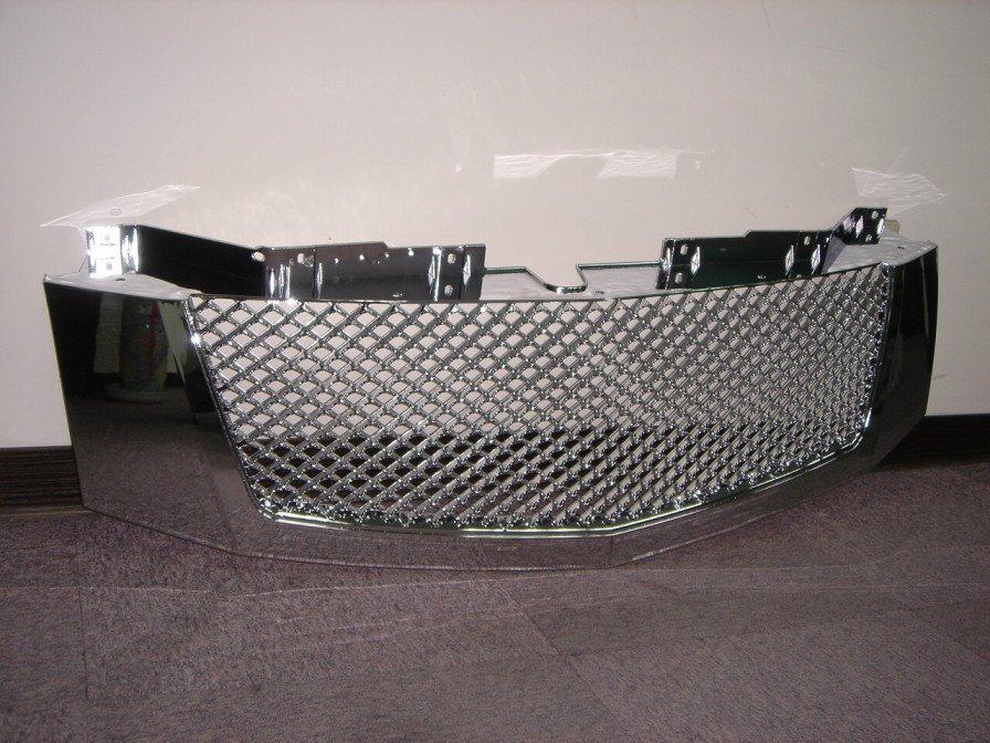 CAR AUTO CHROME FRONT BUMPER GRILLE FOR CADILLAC ESCALADE 2007 BENTLEY STYLE PLASTIC GRILL