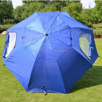 8 panels portable beach umbrella shelter works as a sport or beach shelter canopy tent