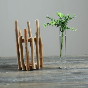 Small Driftwood Test Tube Vase Beach Decor Rustic For Home Table