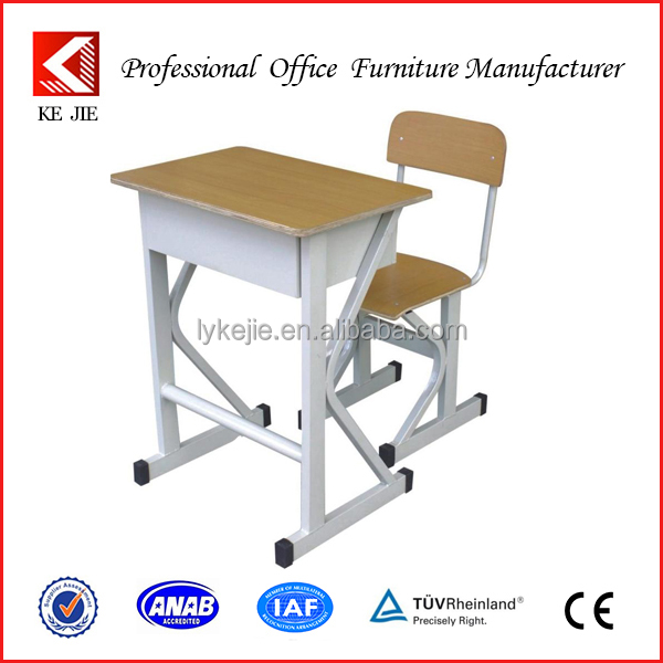 Adjustable single student desk and chair,Classroom single desk and chair,Adjustable high school funiture