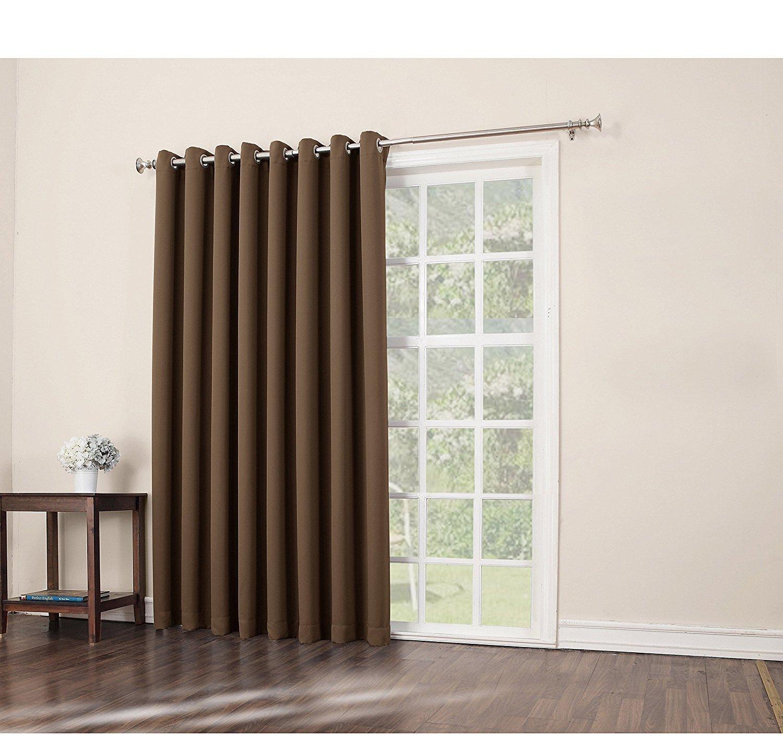Buy 1pc 84 Barley Solid Color Sliding Door Curtain Dark