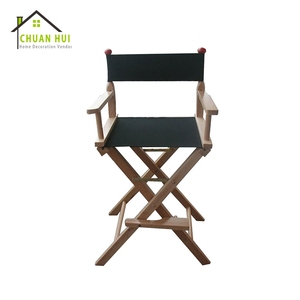 High quality portable wood folding director chair fold black make up professional makeup artist chair, outdoor wooden director