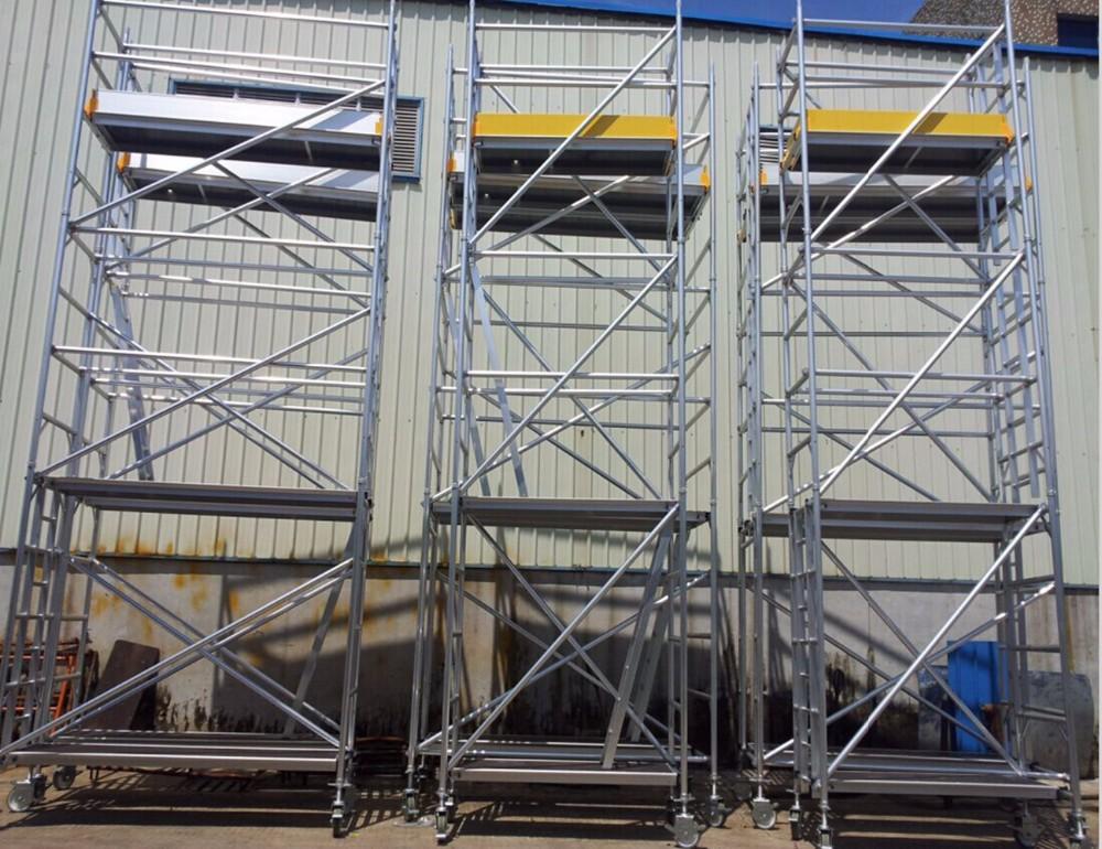 Aluminium mobile scaffold tower airstream hand dryer