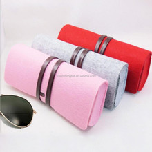 China suppliers custom cheap felt glasses case