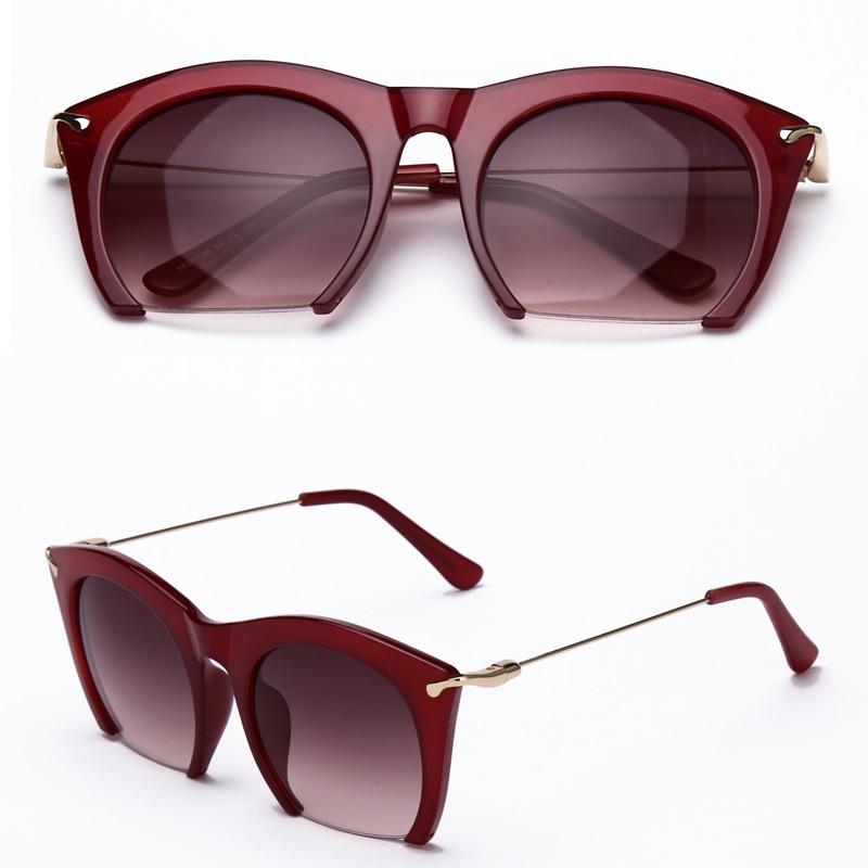 b287c68c70 Get Quotations · Brand half rim Sunglasses CAT EYE Sun shades lenses Half  frame goggles Women Tinted Sun wear