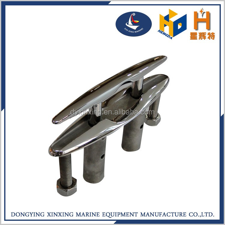 marine hardware stainless steel flush cleat
